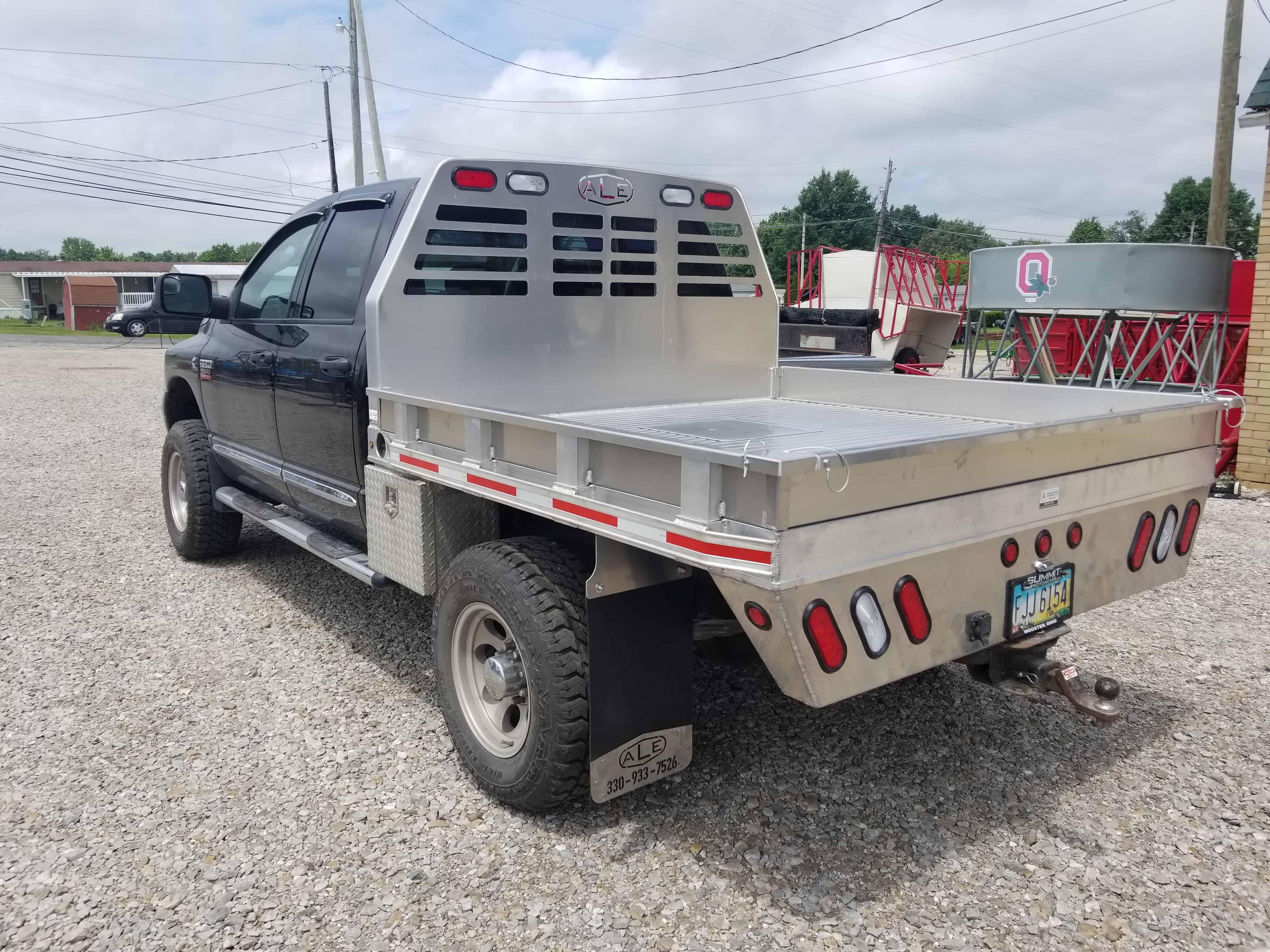 84 u0026quot  x 88 u0026quot  short bed aluminum flatbed amos livestock