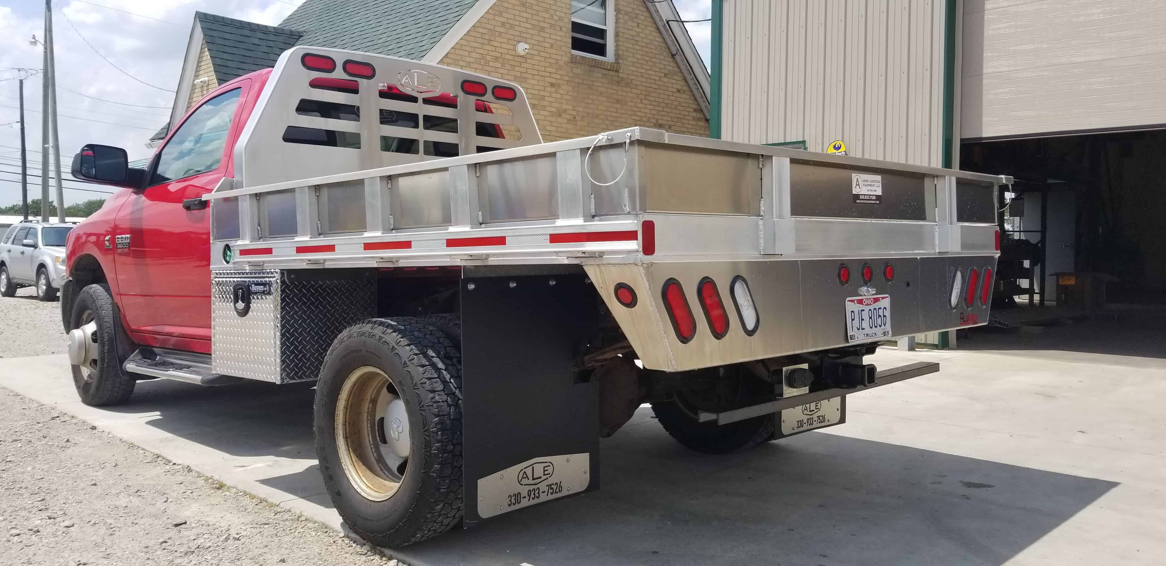 Ale Aluminum Flatbed Truck Bed For 8 U0026 39  Dual Wheel Pickup